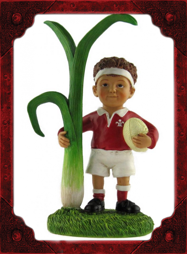 WC0006 Rugby Boy with Leek Model